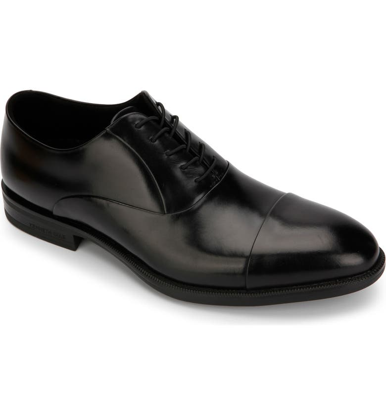 KENNETH COLE NEW YORK Futurepod Cap Toe Oxford, Main, color, BLACK LEATHER