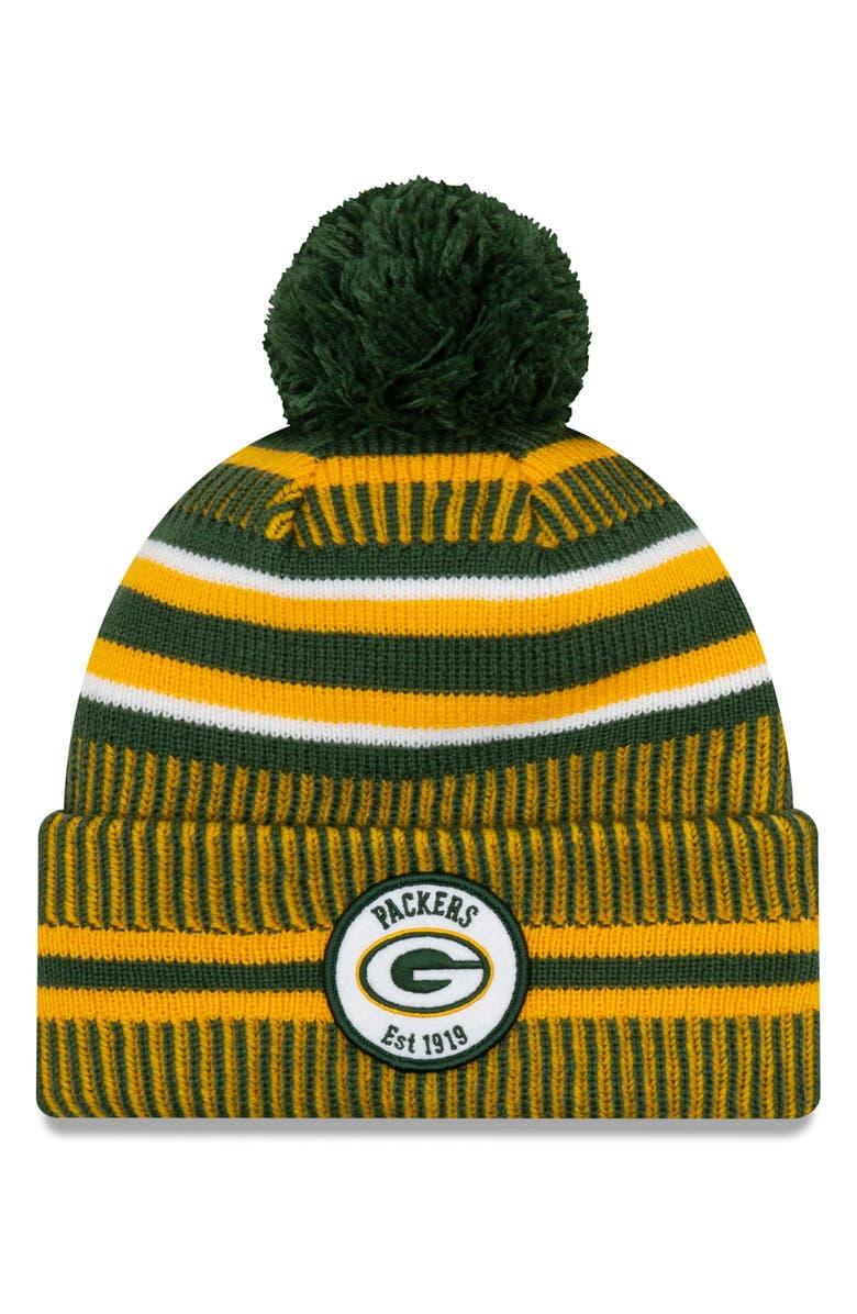 NEW ERA CAP NFL Beanie, Main, color, GREEN BAY PACKERS