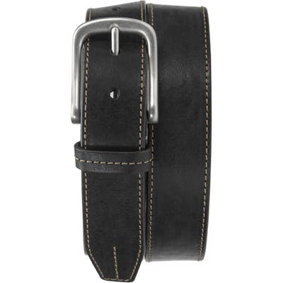 Trask Leather Belt, Black