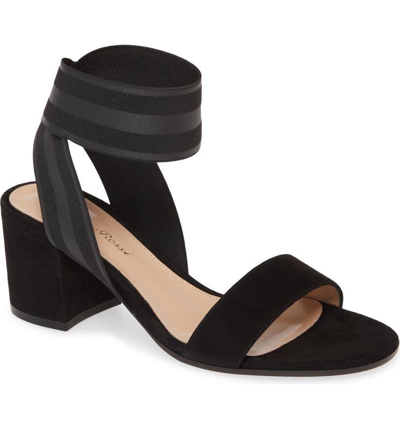 GIANVITO ROSSI Elastic Ankle Wrap Sandal, Main, color, 001
