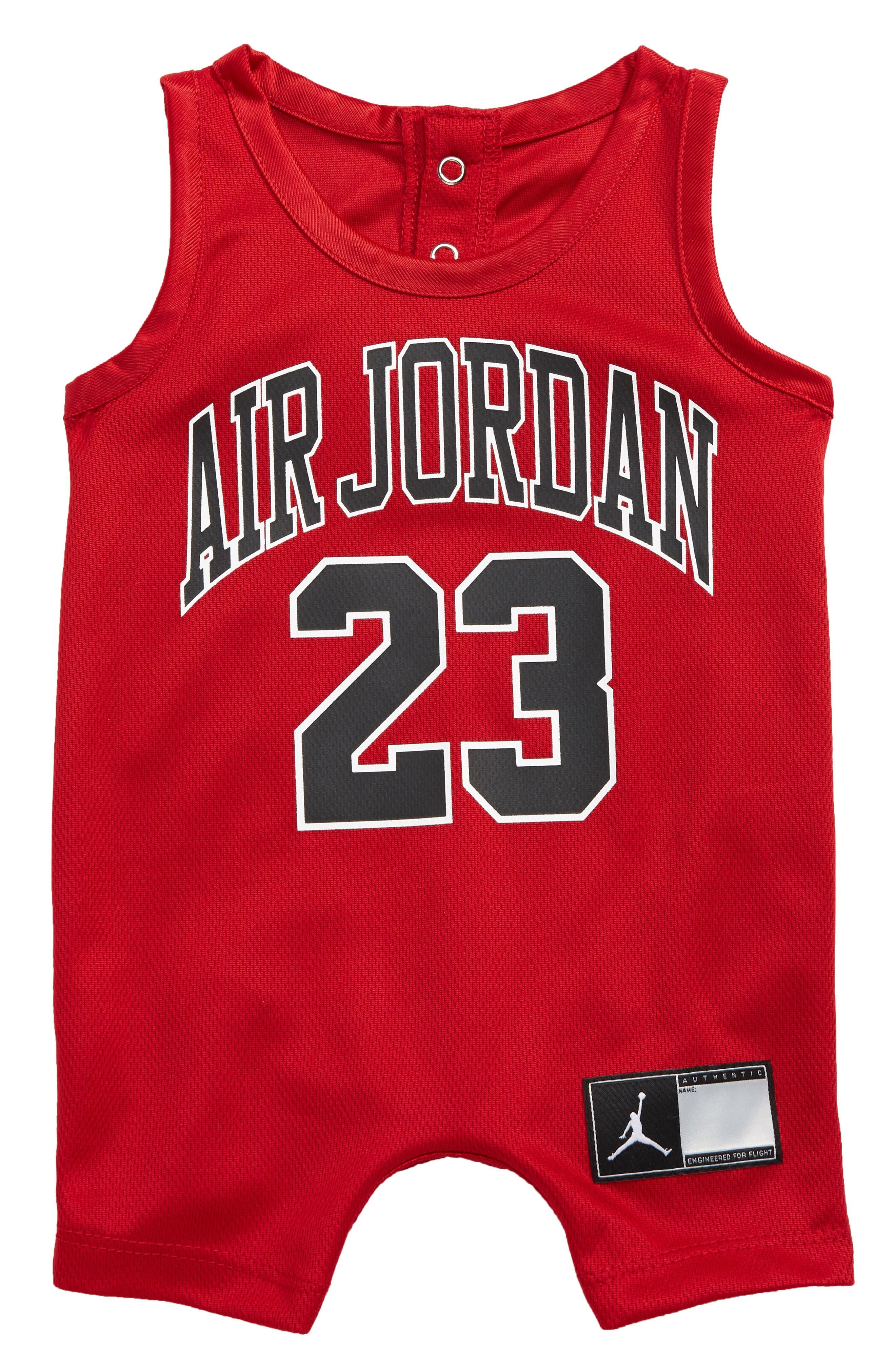 Jordan Jersey Graphic Romper (Baby