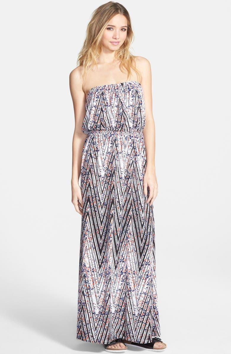 TRIXXI Print Maxi Dress, Main, color, 001