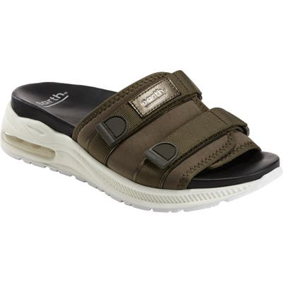 Earth Kamala Slide Sandal- Green
