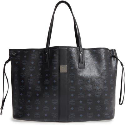 Mcm Large Liz Reversible Shopper - Black