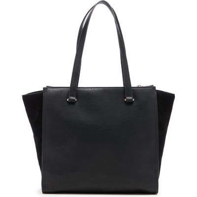 Sole Society Chele 2 Faux Leather & Genuine Suede Tote - Black
