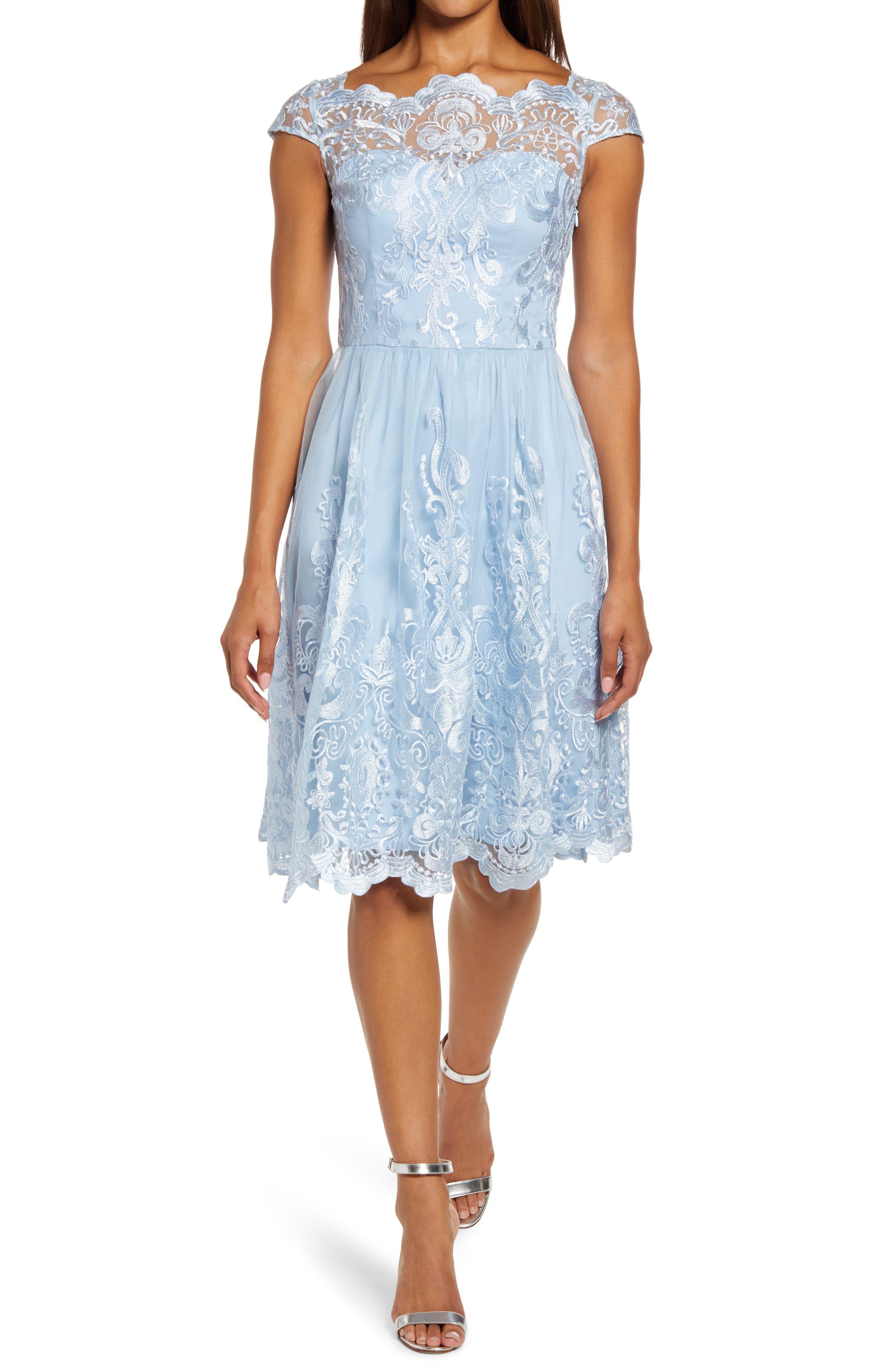 Lace Skater Cocktail Dress