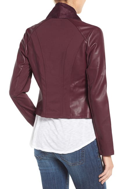 Image of KUT from the Kloth 'Ana' Faux Leather Drape Front Jacket