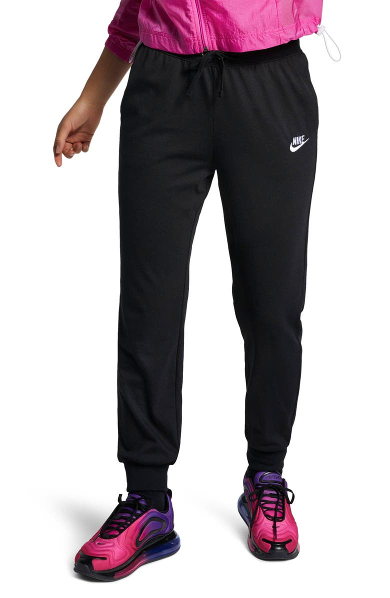 NIKE Sportswear Jersey Pants, Main, color, BLACK