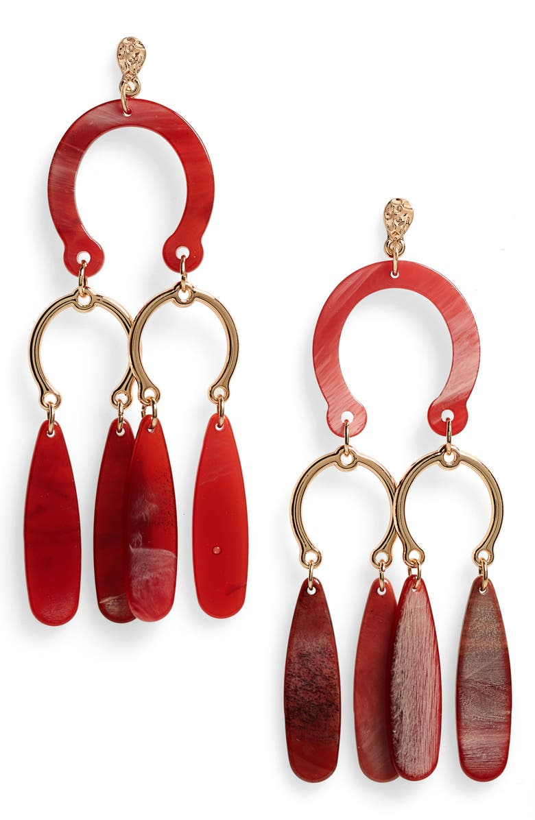 STELLA + RUBY Dangle Earrings, Main, color, 600