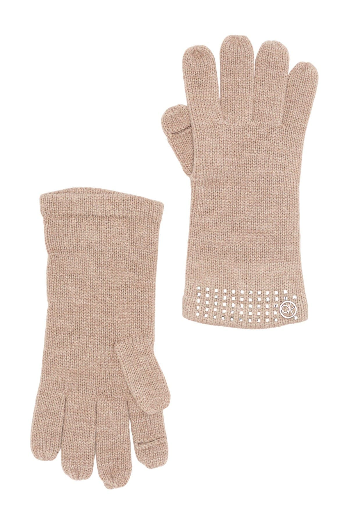 Image of Calvin Klein Square Studded Gloves