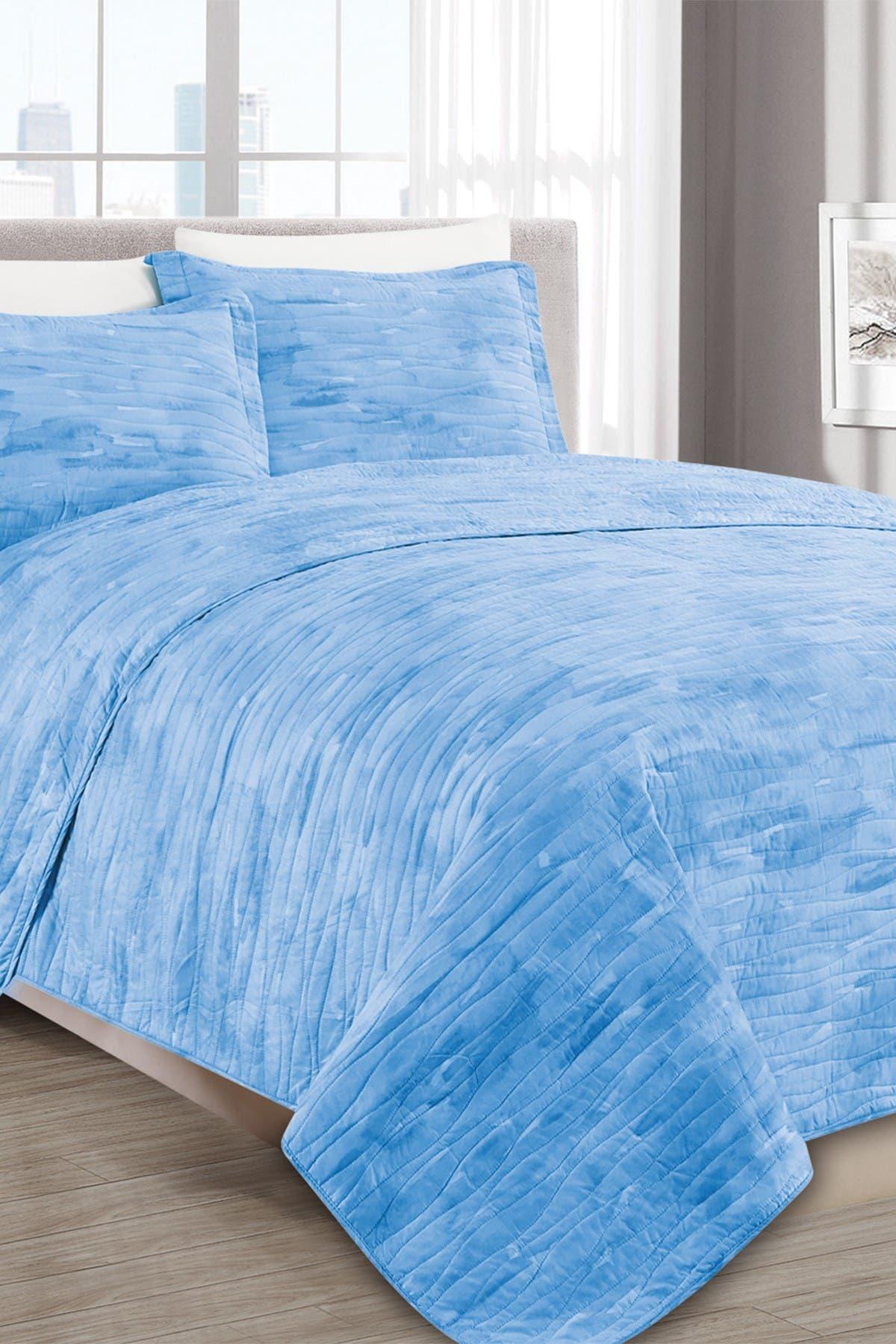 Image of Melange Home Sleepy Texture Quilt 3-Piece Set - Full/Queen