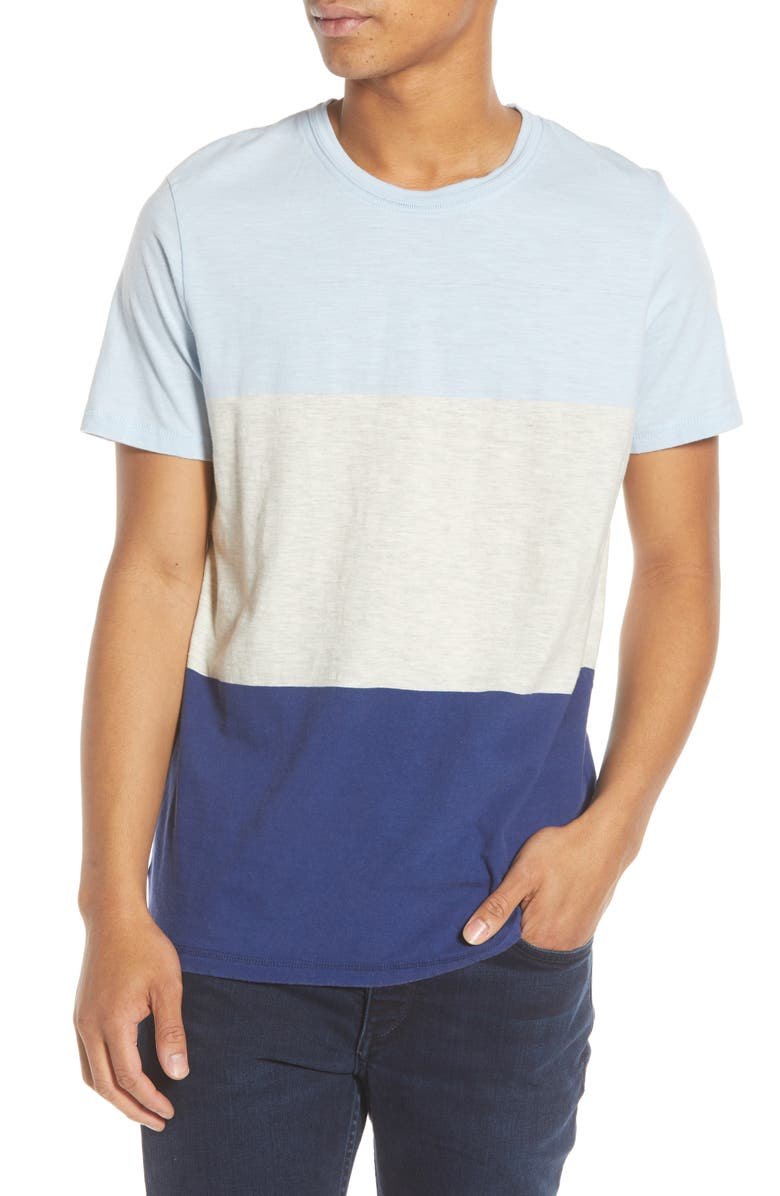SELECTED HOMME Slhkiyoshi Colorblock T-Shirt, Main, color, 425