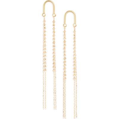 Poppy Finch 18K Gold Arch Short Shimmer Earrings