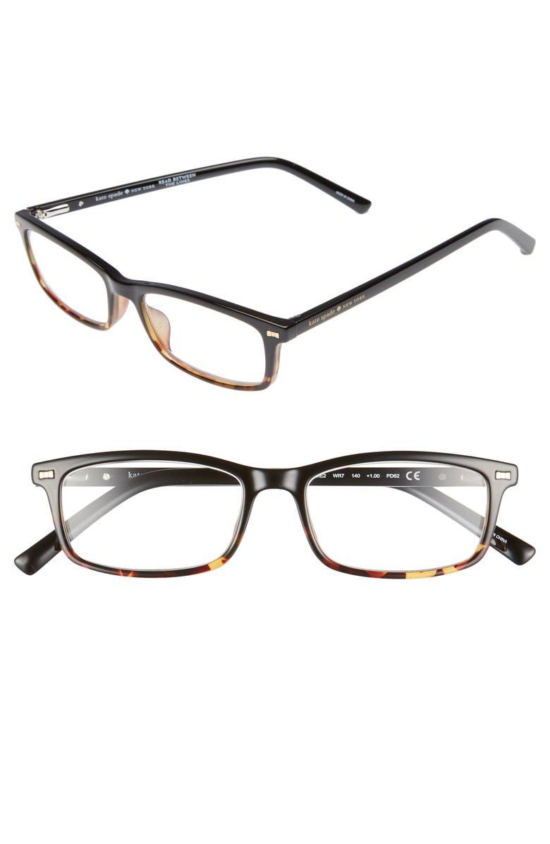 c3778989bf94 kate spade new york jodie 50mm rectangular reading glasses | Nordstrom