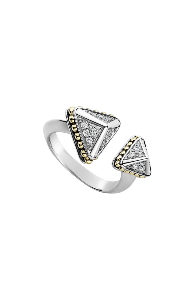LAGOS KSL Lux Diamond Open Ring, Main, color, SILVER/ DIAMOND