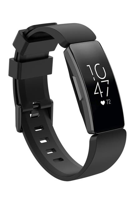 Image of POSH TECH Large Fitbit Inspire Silicone Sports Band - Black