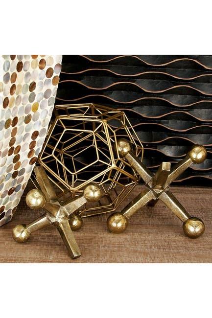 Image of Willow Row Modern Decorative Aluminum Jack Sculpture - Set of 2