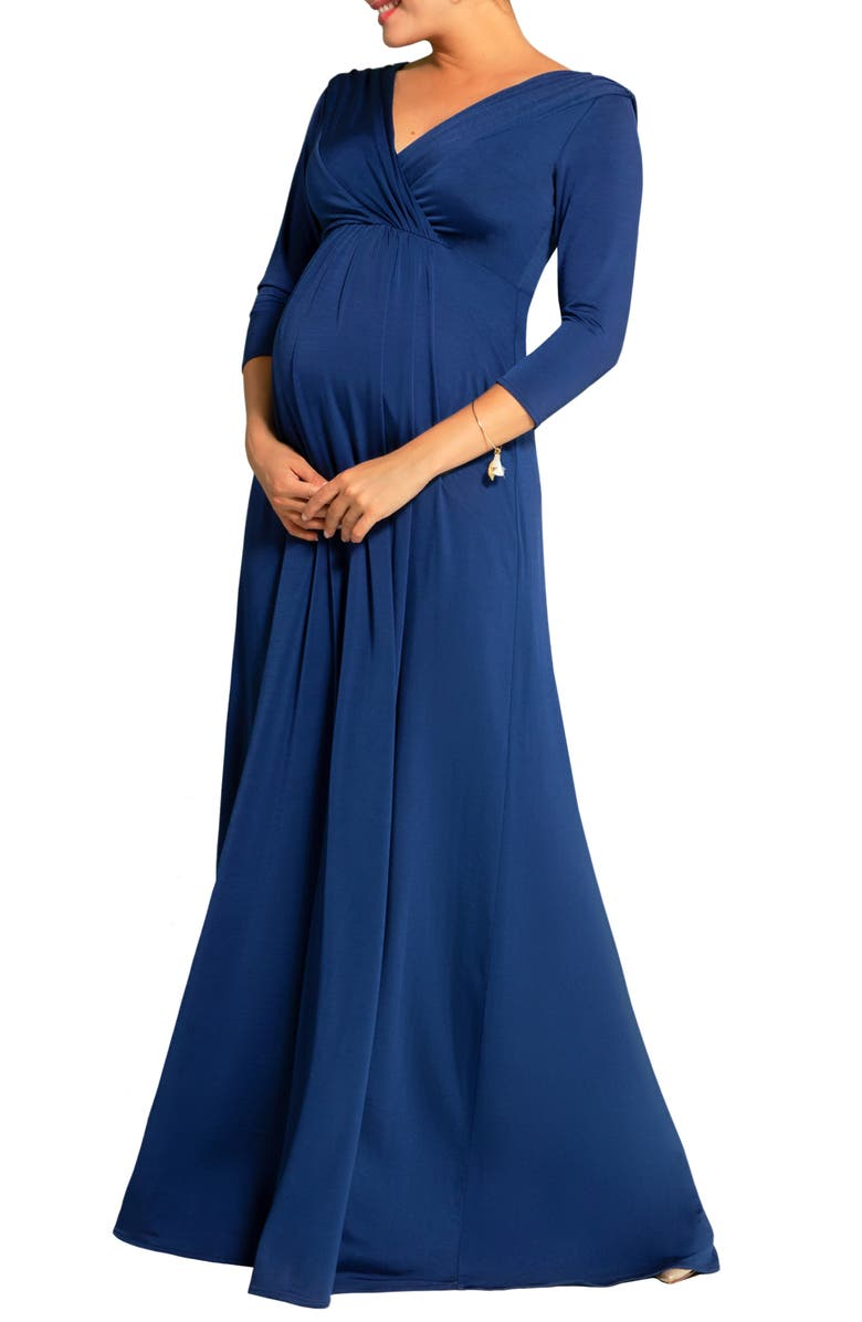 TIFFANY ROSE Willow Maternity/Nursing Gown, Main, color, IMPERIAL BLUE