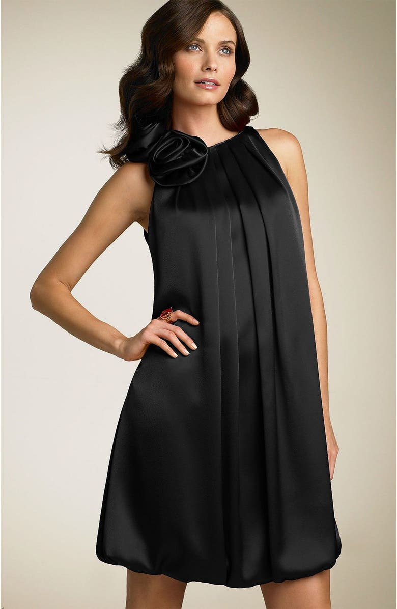 ABS BY ALLEN SCHWARTZ Charmeuse Dress, Main, color, BLK