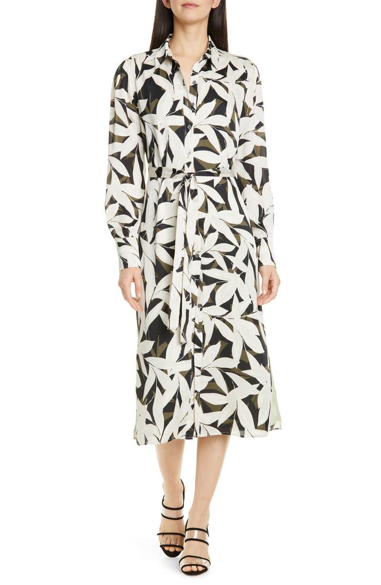 EQUIPMENT Rosalee Long Sleeve Shirtdress, Main, color, 001