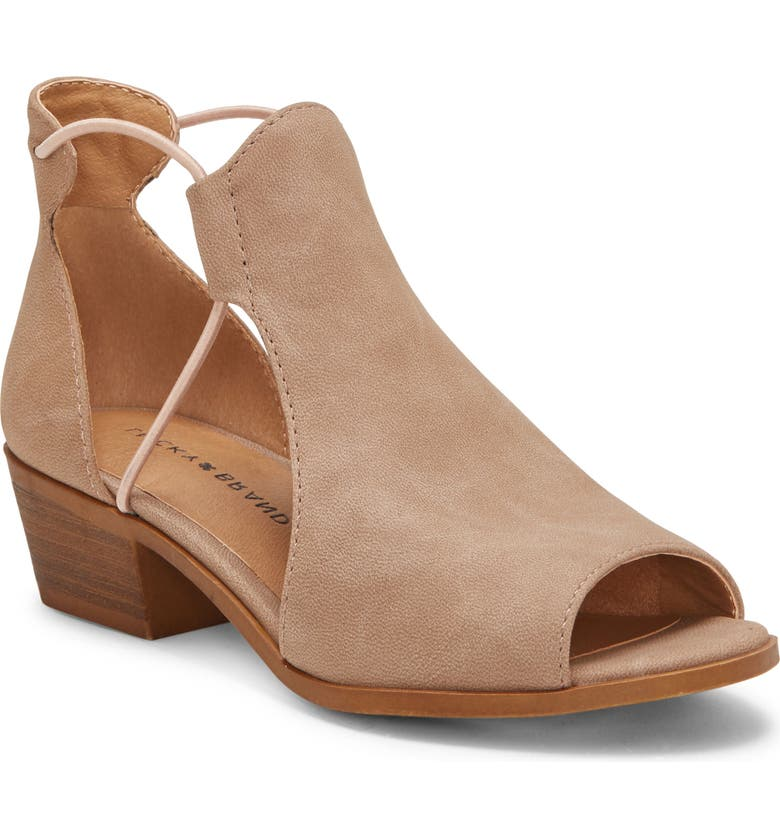 LUCKY BRAND Berrete Open Side Sandal, Main, color, TAUPE