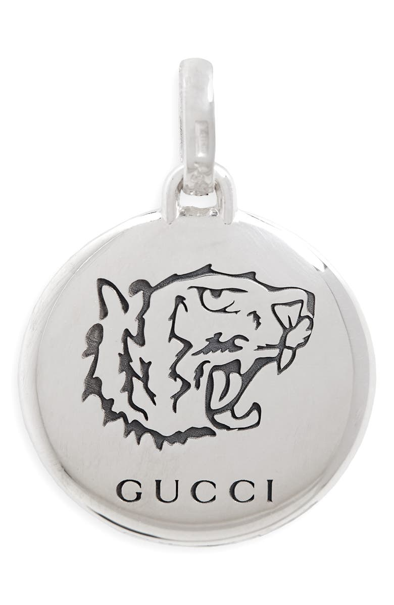 GUCCI Blind for Love Sterling Silver Charm, Main, color, STERLING SILVER