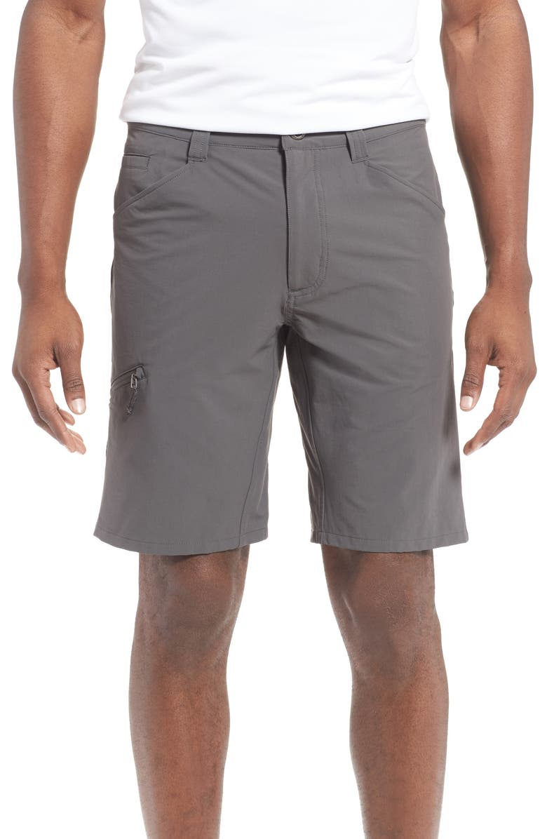PATAGONIA Quandary Water Repellent Stretch Hiking Shorts, Main, color, FORGE GREY