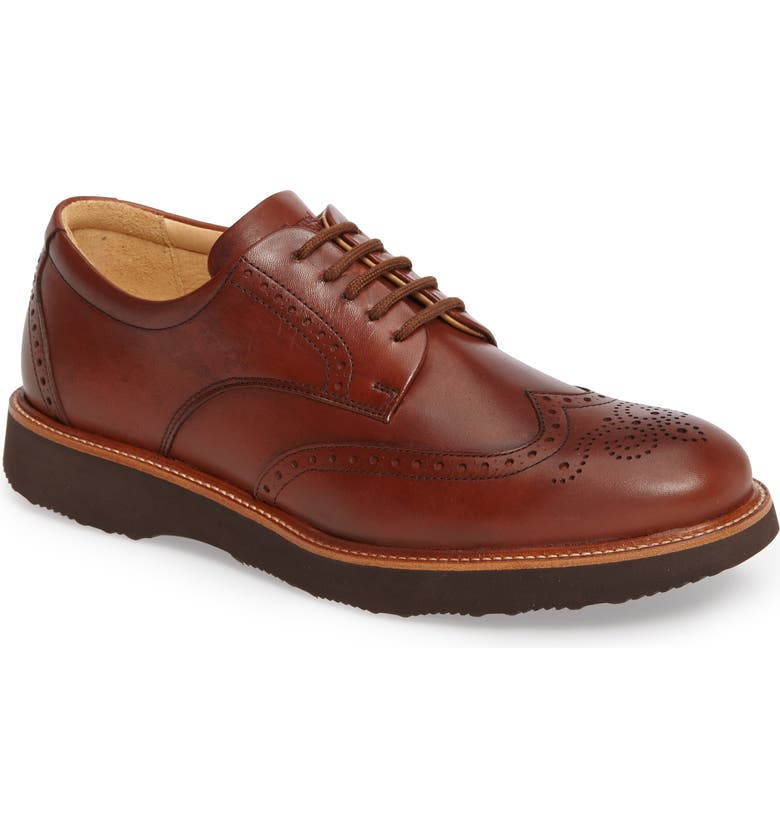 SAMUEL HUBBARD 'Tipping Point' Wingtip Oxford, Main, color, WHISKEY