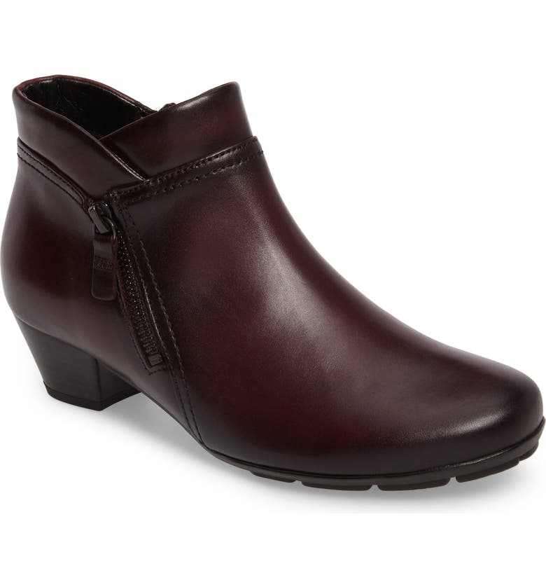 GABOR Classic Ankle Boot, Main, color, WINE LEATHER