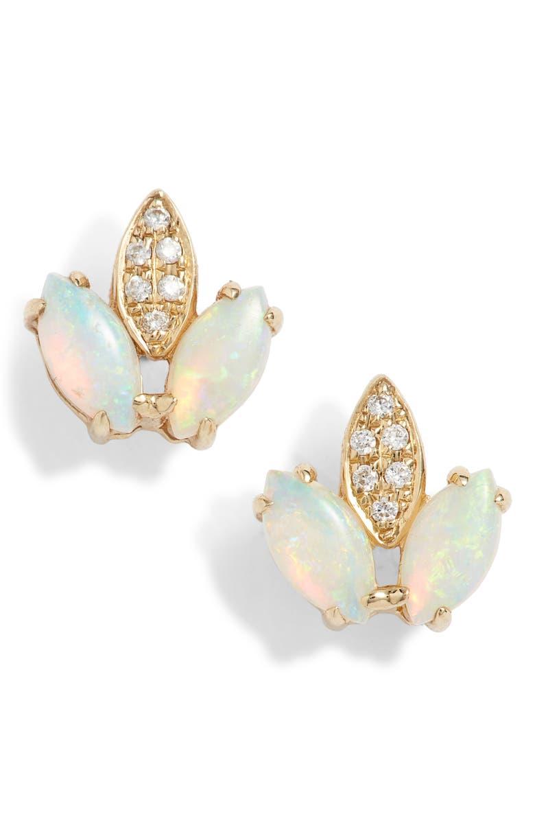 DANA REBECCA DESIGNS Charlie Caroline Opal Stud Earrings, Main, color, 710