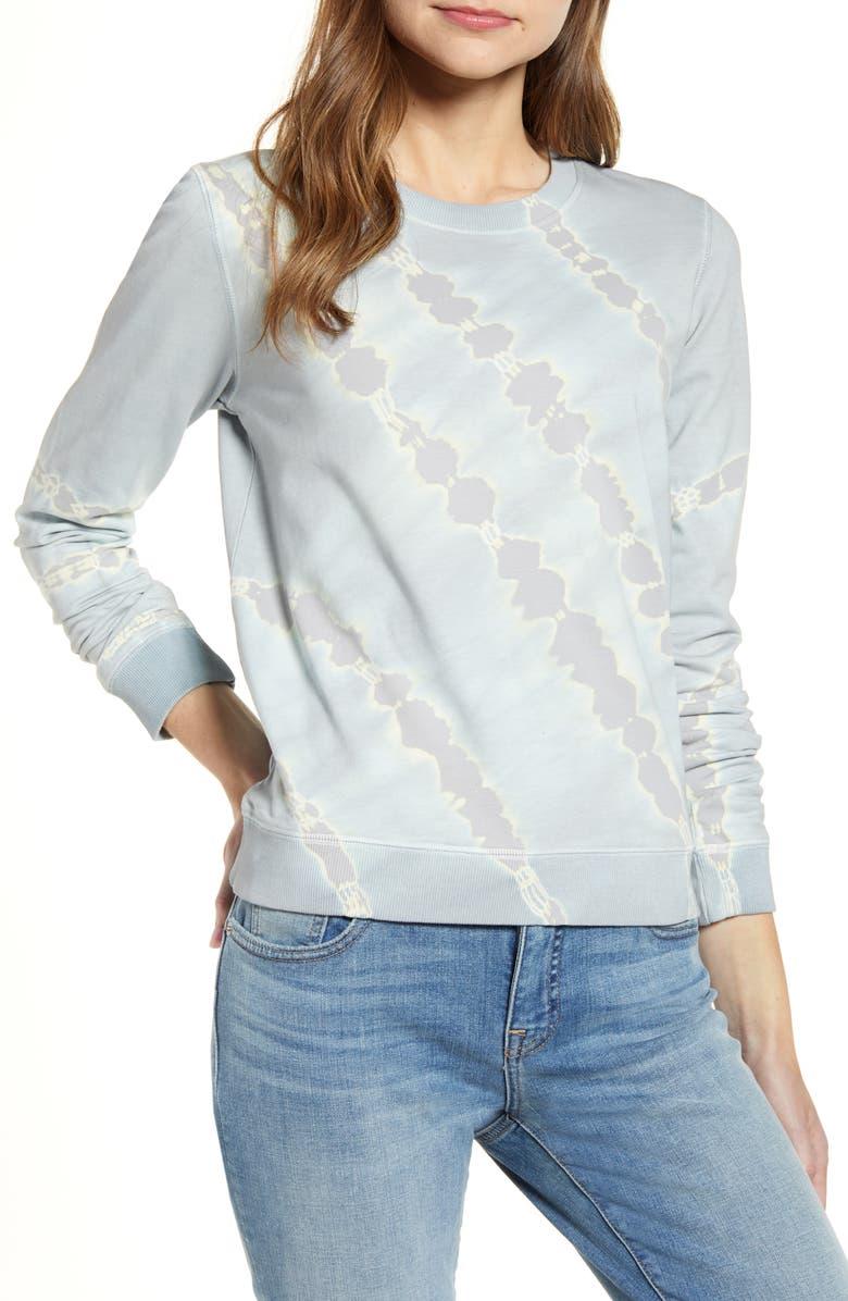 LUCKY BRAND Tie Dye Cotton Sweatshirt, Main, color, 030