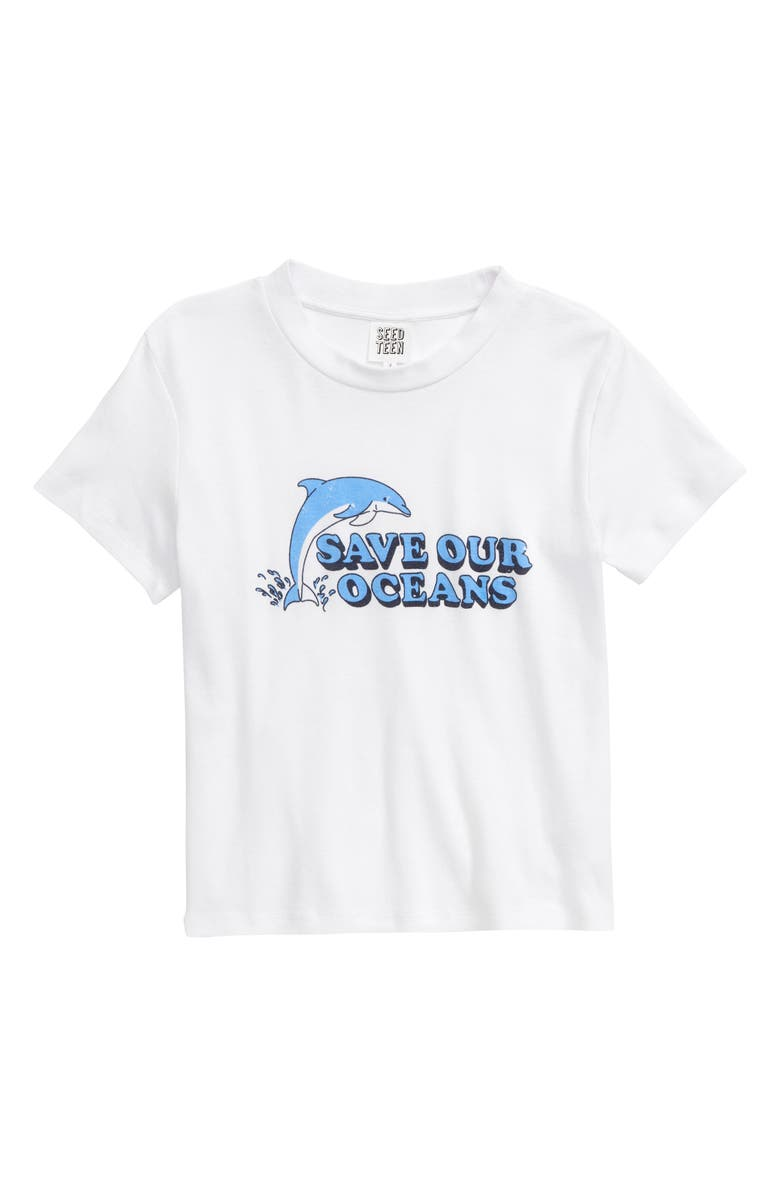 SEED HERITAGE Save Our Oceans Graphic Tee, Main, color, 100
