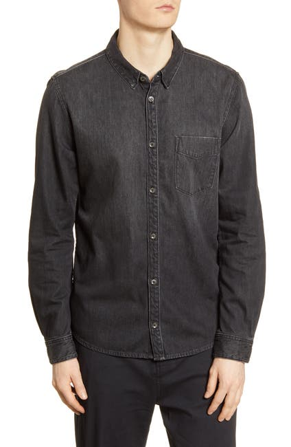 Image of BALDWIN Diego Slim Fit Button-Up Denim Shirt