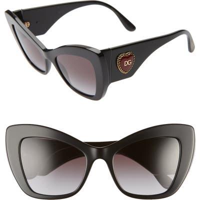 Dolce & gabbana 5m Cat Eye Sunglasses - Black/ Black Gradient