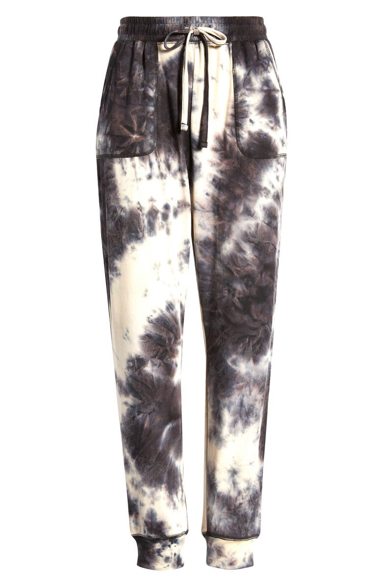 ROW A Tie Dye Lounge Pants, Main, color, NAVY
