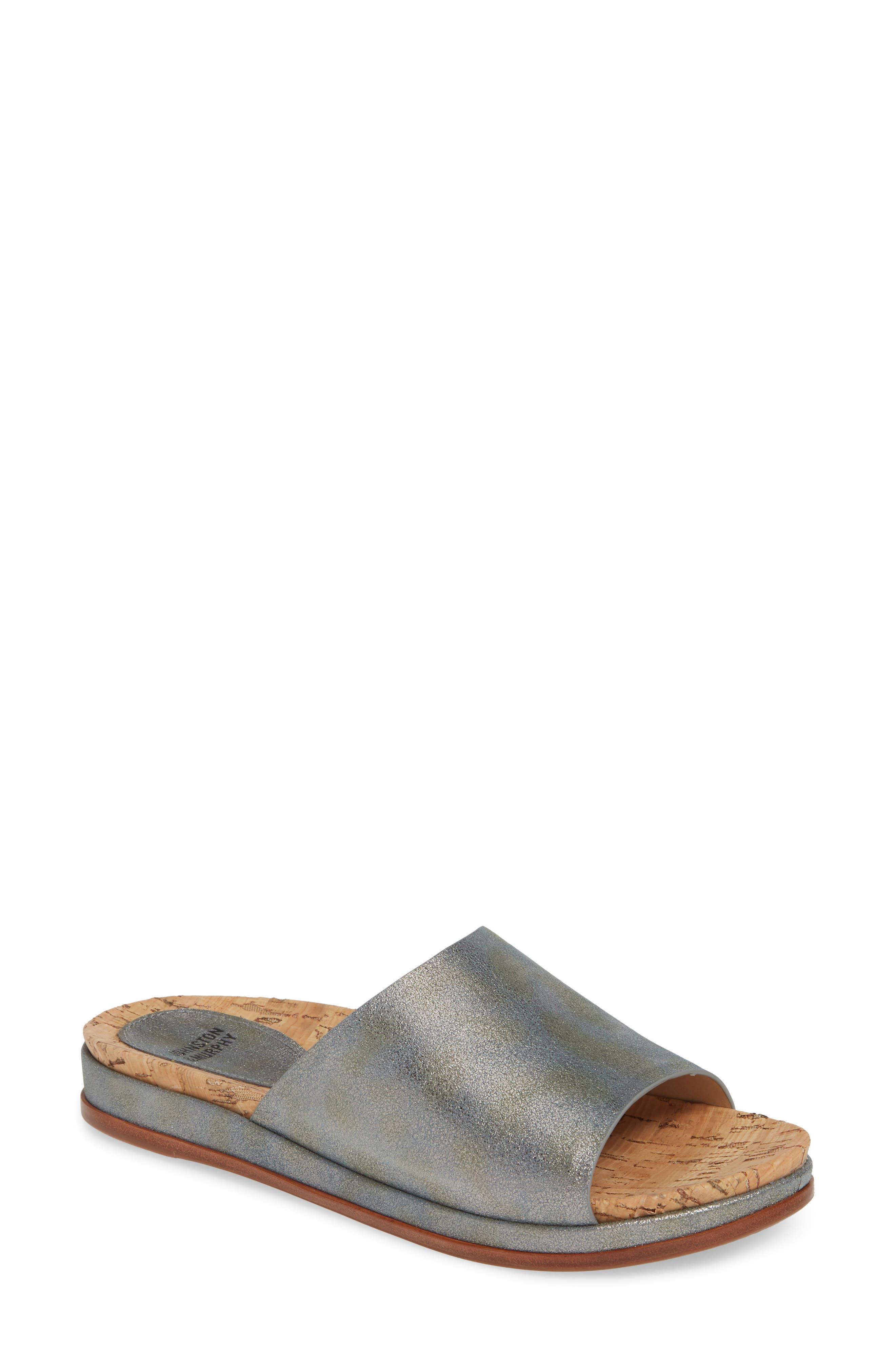 Johnston & Murphy Jenny Slide Sandal, Grey