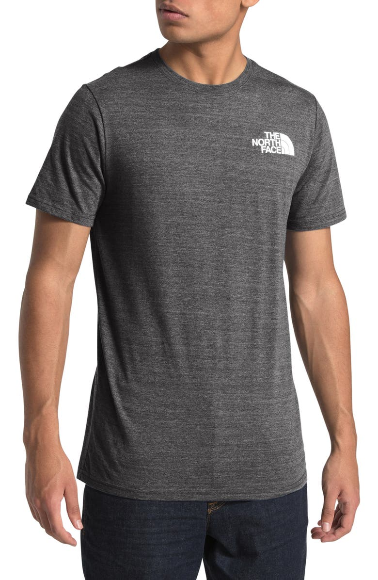 THE NORTH FACE Archived Triblend Short Sleeve T-Shirt, Main, color, TNF DARK GREY HEATHER