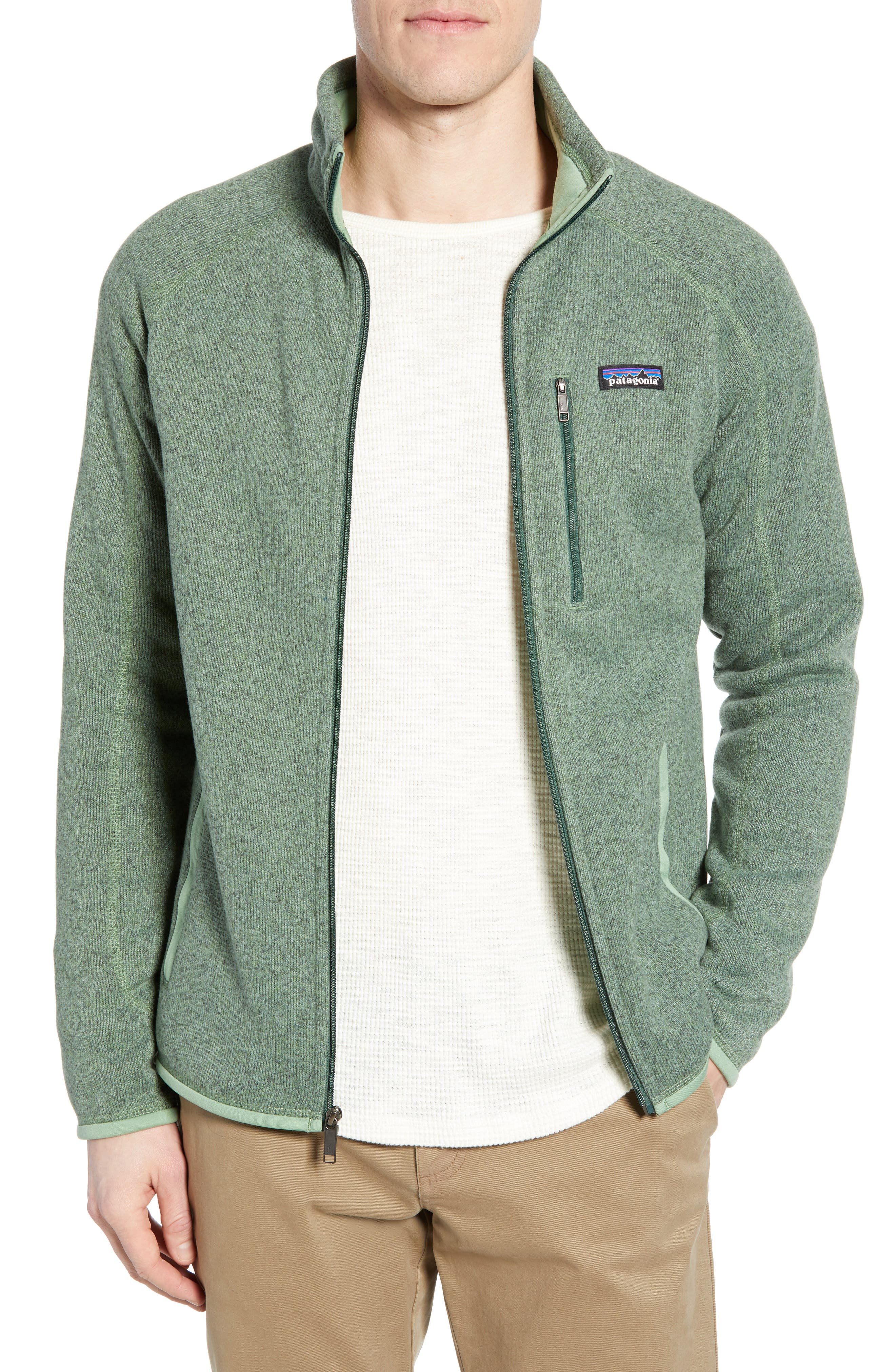 Patagonia Better Sweater Zip Front Jacket, Green