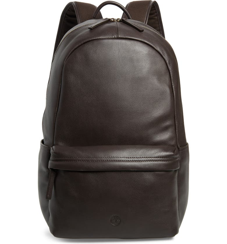 TIMBERLAND Tuckerman Leather Laptop Backpack, Main, color, 201