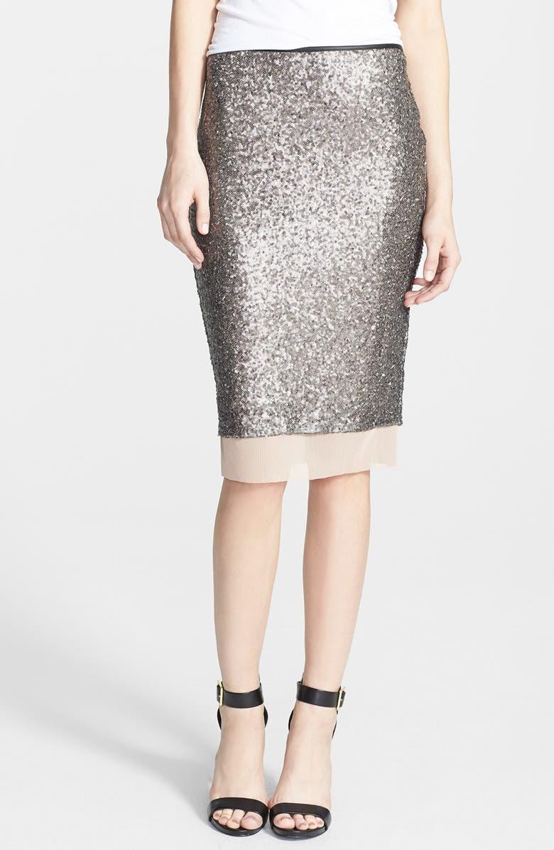 ASTR THE LABEL ASTR Sequin Pencil Skirt, Main, color, 030