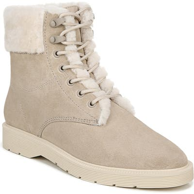 Vince Hayes Ii Water Repellent Genuine Shearling Hiker Boot, White