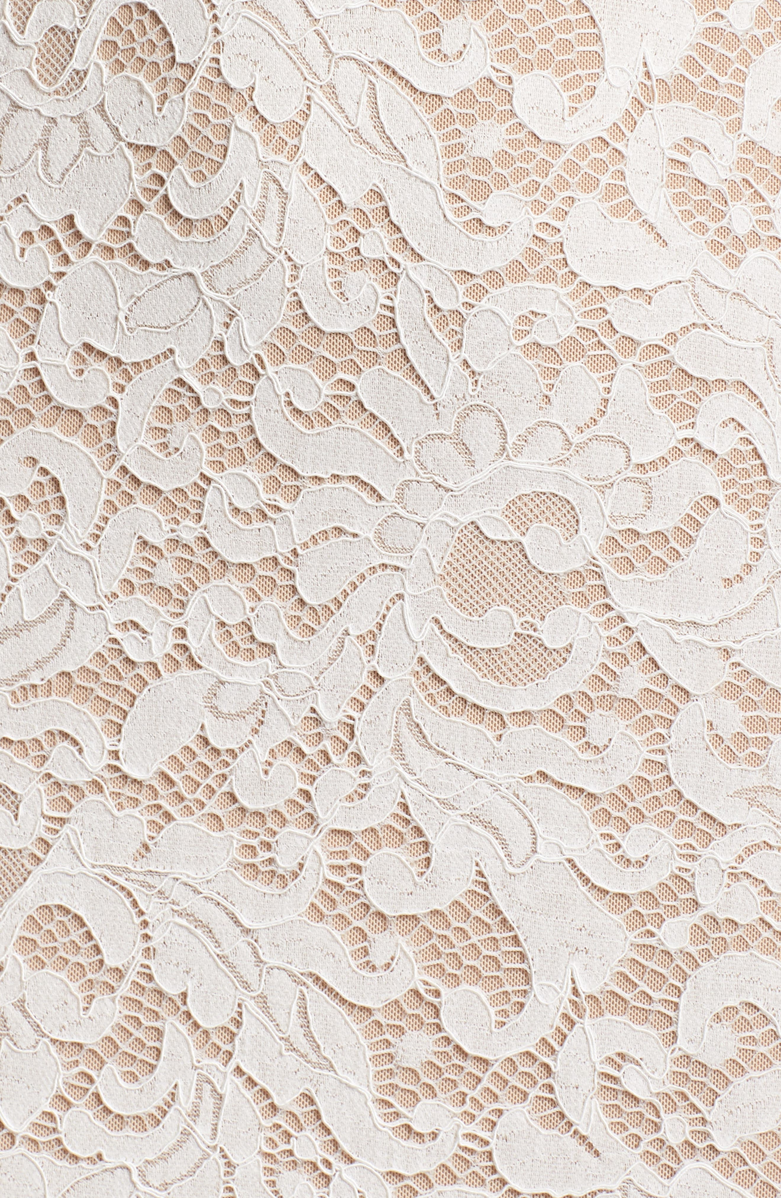 ,                             Derica Lace Gown,                             Alternate thumbnail 5, color,                             IVORY / NUDE