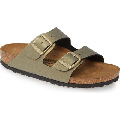 Birkenstock Arizona Icy Metallic Slide Sandal