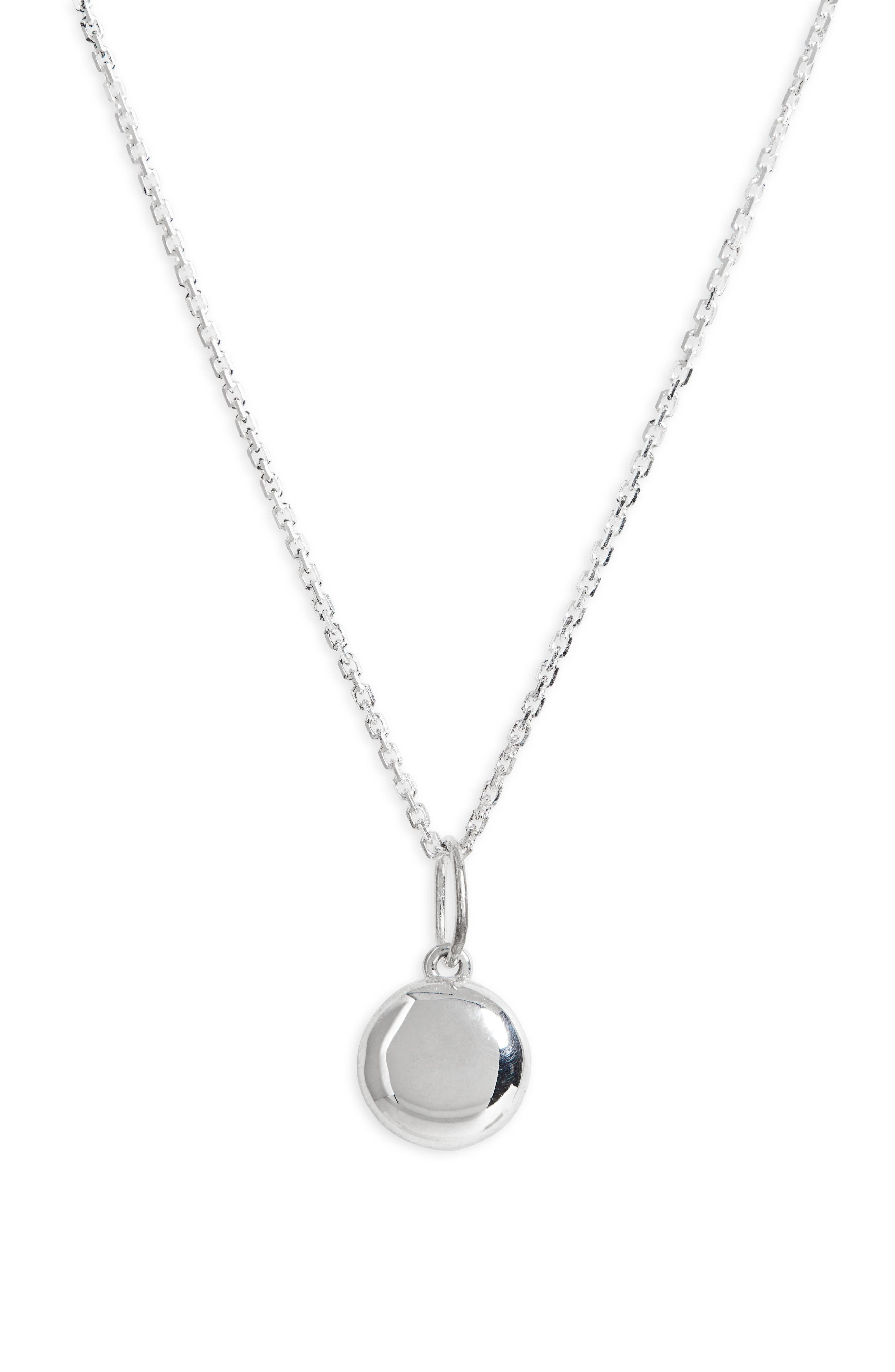Puff Coin Pendant Necklace