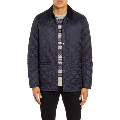 Barbour Blinter Water Resistant Quilted Jacket, Blue