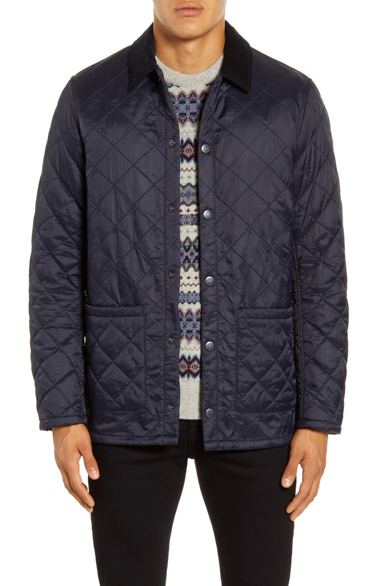 BARBOUR Blinter Water Resistant Quilted Jacket, Main, color, 410
