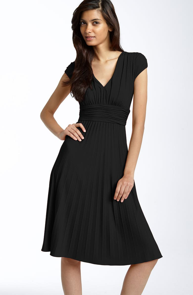 IVY & BLU Ruched Matte Jersey Dress, Main, color, 800