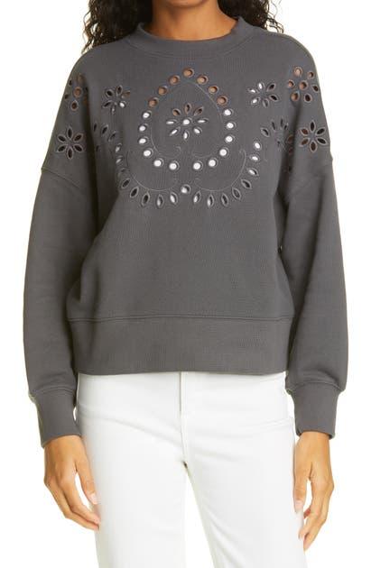 Rails Sweatshirts ALICE EYELET DETAIL SWEATSHIRT
