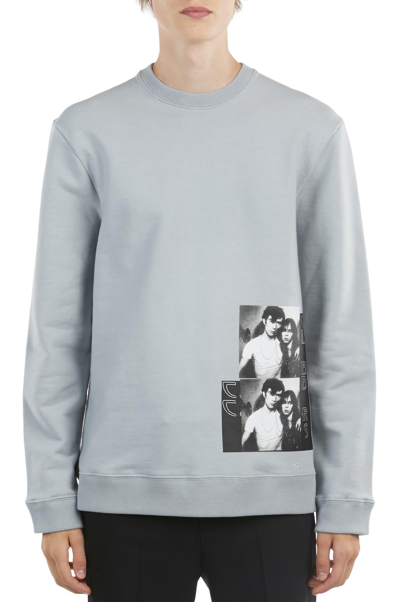 ,                             Graphic Sweatshirt,                             Main thumbnail 1, color,                             SILVER