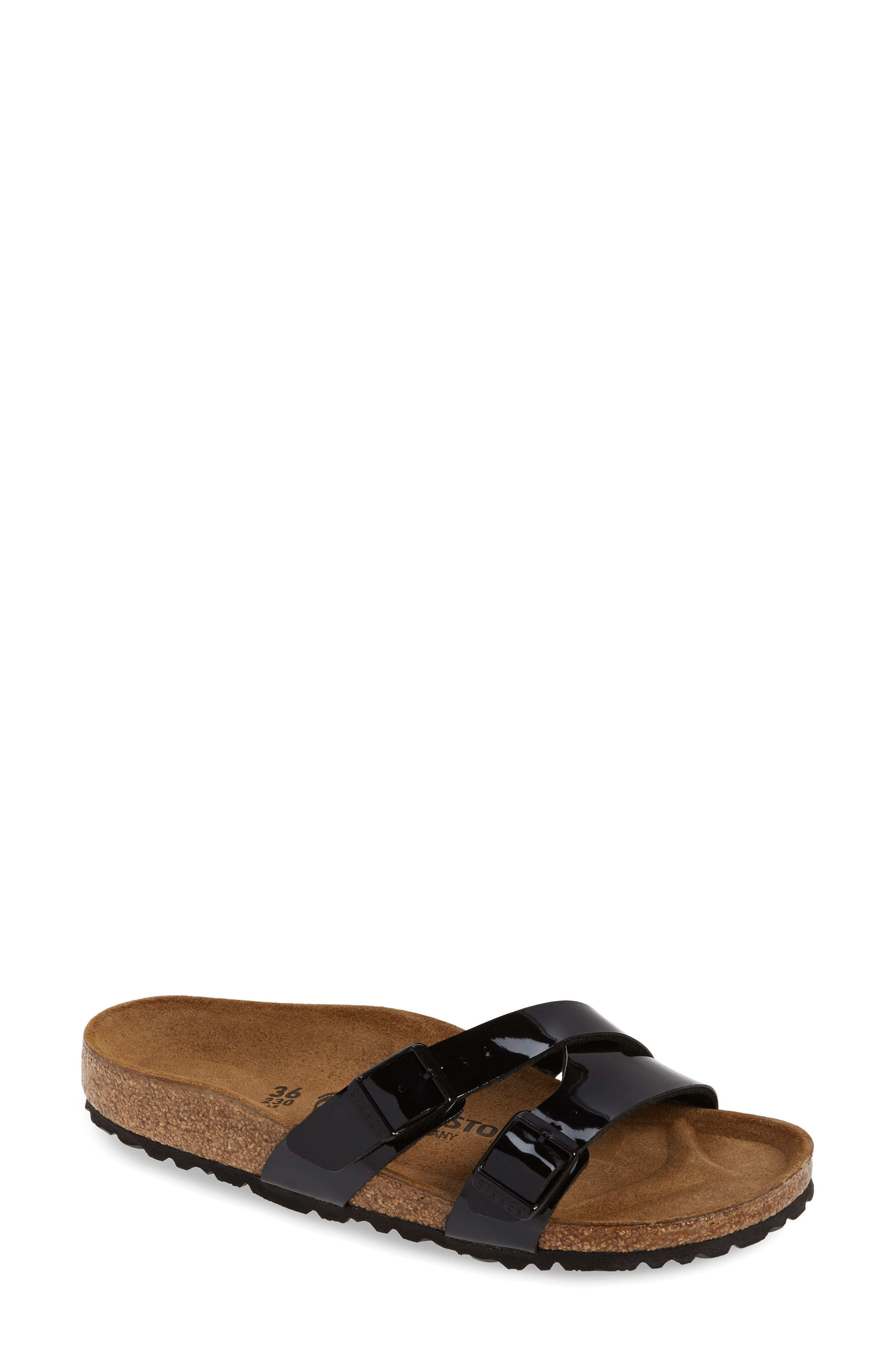 Birkenstock Yao Patent Slide Sandal, Black